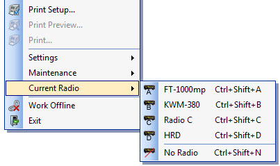 Getting Started > Radio Connections and Settings